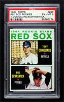Red Sox Rookie Stars (Tony Conigliaro, Bill Spanswick) [PSA6EX̴…