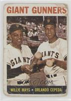 Giant Gunners (Willie Mays, Orlando Cepeda) [Poor]