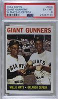 Giant Gunners (Willie Mays, Orlando Cepeda) [PSA6EX‑MT]