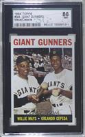 Giant Gunners (Willie Mays, Orlando Cepeda) [SGC 86 NM+ 7.5]