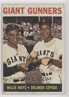 Giant Gunners (Willie Mays, Orlando Cepeda) [Poor]