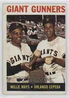Giant Gunners (Willie Mays, Orlando Cepeda) [GoodtoVG‑EX]