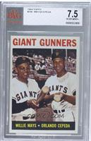 Giant Gunners (Willie Mays, Orlando Cepeda) [BVG7.5]