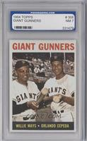 Giant Gunners (Willie Mays, Orlando Cepeda) [ENCASED]