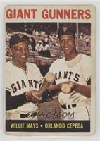 Giant Gunners (Willie Mays, Orlando Cepeda) [Poor to Fair]