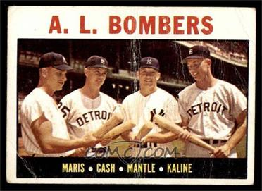 1964 Topps - [Base] #331 - A.L. Bombers (Roger Maris, Norm Cash, Mickey Mantle, Al Kaline) [FAIR]