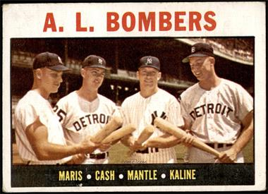 1964 Topps - [Base] #331 - A.L. Bombers (Roger Maris, Norm Cash, Mickey Mantle, Al Kaline) [VG]