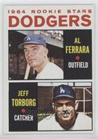 1964 Rookie Stars - Al Ferrara, Jeff Torborg