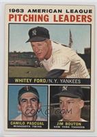 Whitey Ford, Camilo Pascual, Jim Bouton