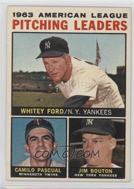 1964 Topps - [Base] #4 - Whitey Ford, Camilo Pascual, Jim Bouton