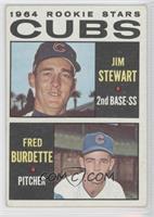 1964 Rookie Stars - Jimmy Stewart, Freddie Burdette [Noted]
