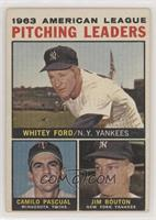 Whitey Ford, Camilo Pascual, Jim Bouton (Apostrophe after Pitching on Back) [Go…