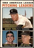 Whitey Ford, Camilo Pascual, Jim Bouton (Apostrophe after Pitching on Back) [FA…