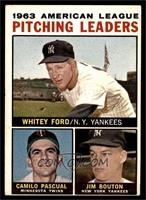 Whitey Ford, Camilo Pascual, Jim Bouton (Apostrophe after Pitching on Back) [VG…
