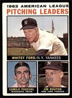 Whitey Ford, Camilo Pascual, Jim Bouton (No Apostrophe After Pitching on Back) …
