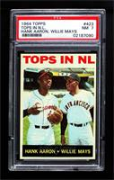 Tops in NL (Hank Aaron, Willie Mays) [PSA 7 NM]