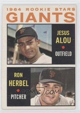 1964 Topps - [Base] #47 - Jesus Alou, Ron Herbel