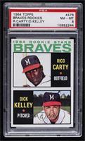 1964 Rookie Stars - Rico Carty, Dick Kelley [PSA8NM‑MT]