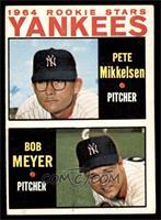1964 Rookie Stars Yankees (Pete Mikkelsen, Bob Meyer) [EX]