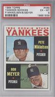 1964 Rookie Stars Yankees (Pete Mikkelsen, Bob Meyer) [PSA6]