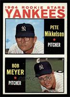 1964 Rookie Stars Yankees (Pete Mikkelsen, Bob Meyer) [EX MT]