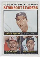 1963 NL Strikeout Leaders (Sandy Koufax, Jim Maloney, Don Drysdale)