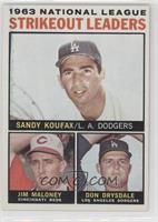 Sandy Koufax, Jim Maloney, Don Drysdale
