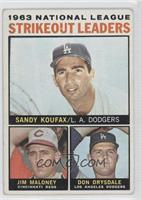 Sandy Koufax, Jim Maloney, Don Drysdale [GoodtoVG‑EX]