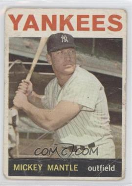 1964 Topps - [Base] #50 - Mickey Mantle [Poor to Fair]