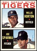 1964 Rookie Stars - Willie Horton, Joe Sparma [NMMT]
