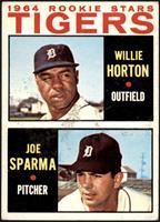 1964 Rookie Stars - Willie Horton, Joe Sparma [VG+]