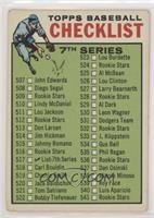 Checklist - 7th Series (565-564 on Back) [GoodtoVG‑EX]