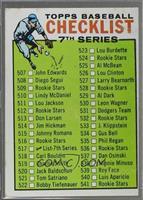 Checklist - 7th Series (542-587 on Back) [GoodtoVG‑EX]
