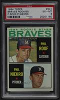 High # - Phil Roof, Phil Niekro [PSA 6 EX‑MT]