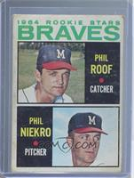 Phil Roof, Phil Niekro [Poor to Fair]