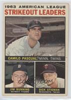 1963 AL Strikeout Leaders (Camilo Pascual, Jim Bunning, Dick Stigman) [Poor&nbs…
