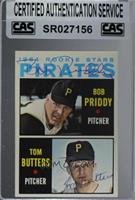 1964 Rookie Stars - Bob Priddy, Tom Butters [CASCertifiedSealed]