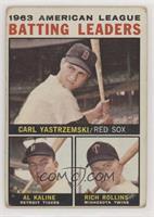 1963 AL Batting Leaders (Carl Yastrzemski, Al Kaline, Rich Rollins) [Poor…