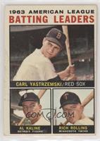 1963 AL Batting Leaders (Carl Yastrzemski, Al Kaline, Rich Rollins) [Good…