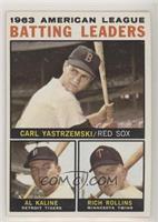 1963 AL Batting Leaders (Carl Yastrzemski, Al Kaline, Rich Rollins)