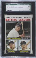 1963 AL Batting Leaders (Carl Yastrzemski, Al Kaline, Rich Rollins) [SGC 3…