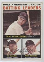 1963 AL Batting Leaders (Carl Yastrzemski, Al Kaline, Rich Rollins) [None…