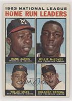 1963 NL Home Run Leaders (Hank Aaron, Willie McCovey, Willie Mays, Orlando Cepe…