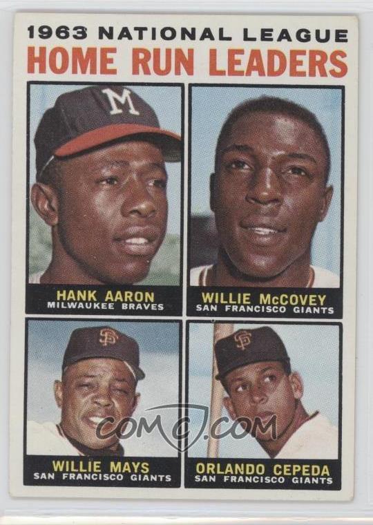 1964 Topps Base 9 1963 National League Home Run