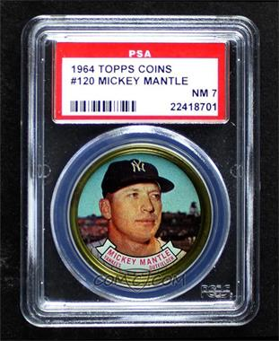 1964 Topps Coins - [Base] #120 - Mickey Mantle [PSA7NM]