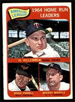 AL Home Run Leaders (Harmon Killebrew, Boog Powell, Mickey Mantle) [EX]