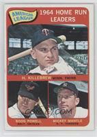 AL Home Run Leaders (Harmon Killebrew, Boog Powell, Mickey Mantle)