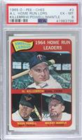 AL Home Run Leaders (Harmon Killebrew, Boog Powell, Mickey Mantle) [PSA6&…