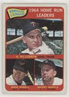 American League Home Run Leaders (Harmon Killebrew, Boog Powell, Mickey Mantle)…