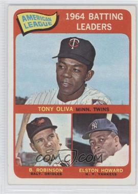1965 Topps - [Base] #1 - American League 1964 Batting Leaders (Tony Oliva, Brooks Robinson, Elston Howard) - Courtesy of COMC.com